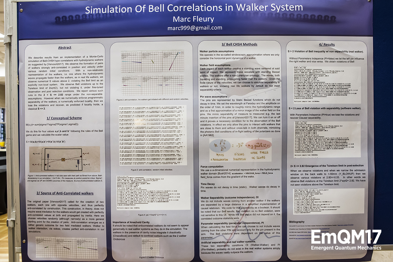 Simulation of Bell correlations in hydrodynamic walker systems by Marc Fleury