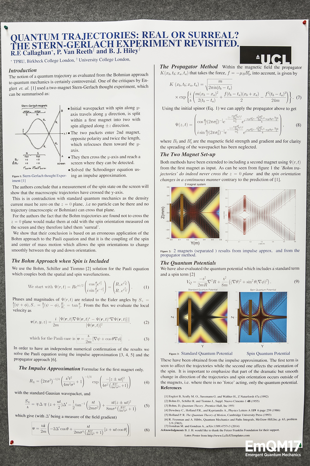 Quantum trajectories: real or surreal? the stern-gerlach experiment revisited by Callaghan